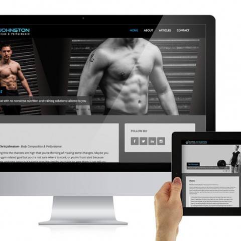 Website design for Chris Johnston Fitness