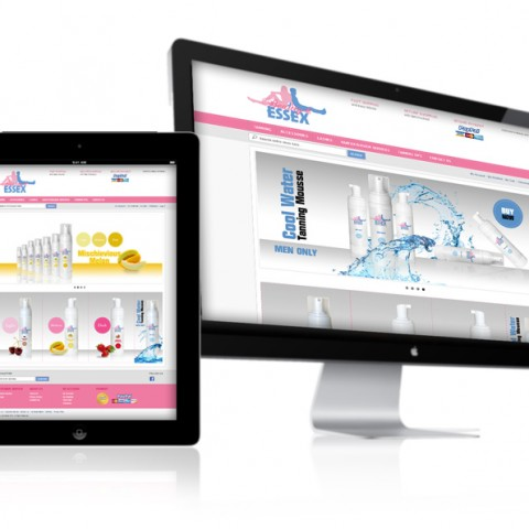 eCommerce website design for Beauty and Essex