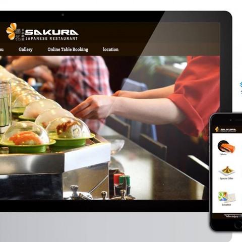 Website Designed for Sakura Belfast