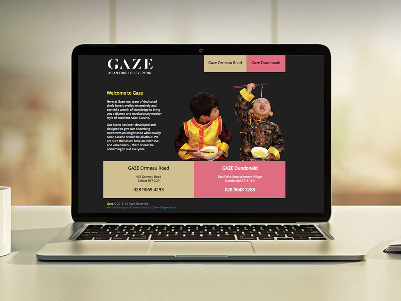 Gaze (Website Design)