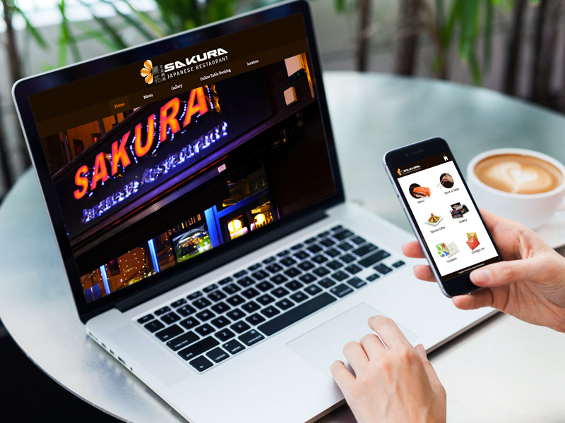 Sakura Belfast (Website & Mobile Web App)